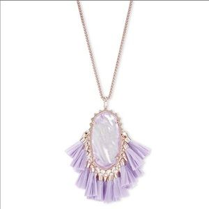Kendra Scott Betsy necklace purple/rose gold